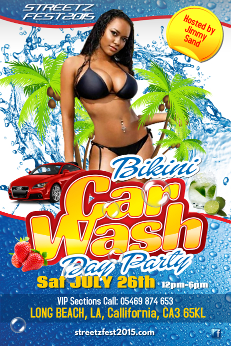 Bikini Car wash Poster