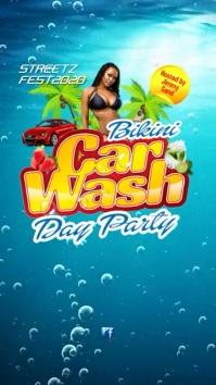 Bikini Car Wash Video Post Digital Display (9:16) template