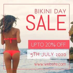 Bikini Day sale Square (1:1) template