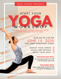 Bikram Yoga Classes Workshop Flyer