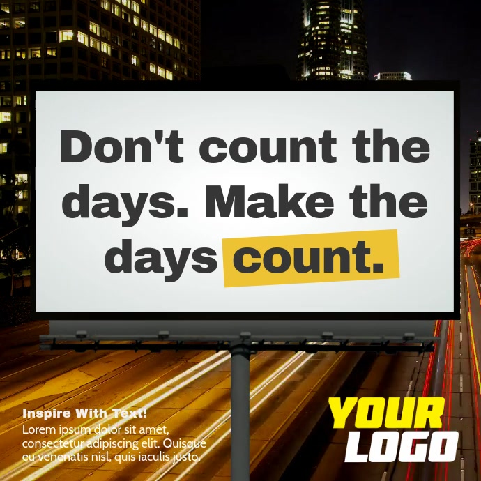 Billboard Sign Message Video