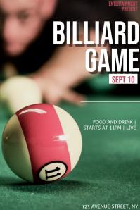 Billiard game flyer template