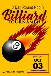 billiard tournament template Poster