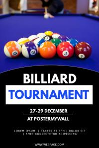 Billiard tournament flyer template