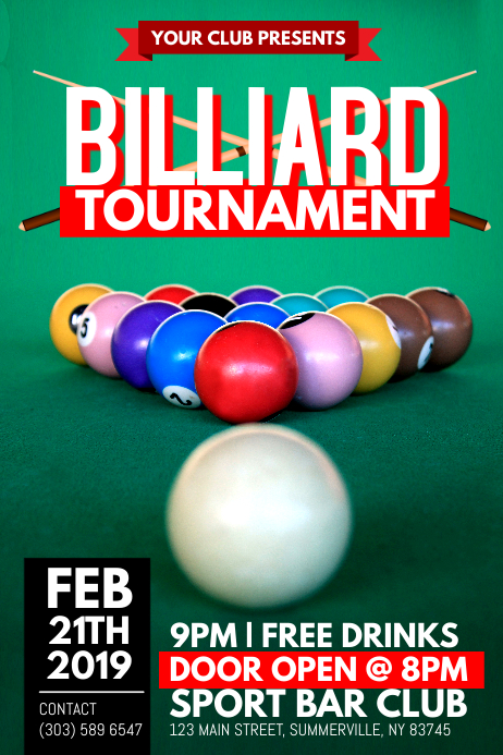 Billiard Tournament Poster
