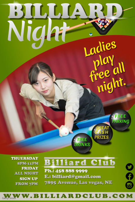 billiard1 Poster template