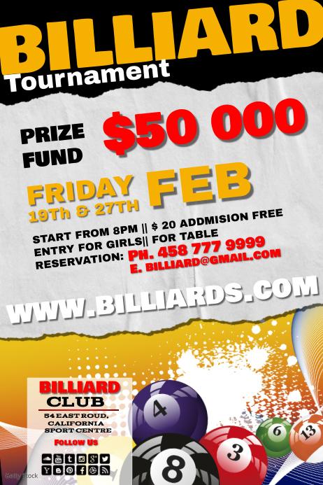 billiard2 Poster template