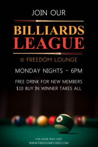 Billiards League Póster template