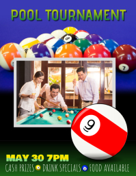 Billiards pool league tournament flyer