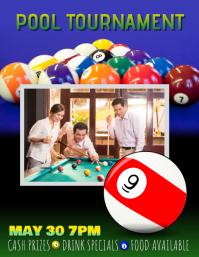 Billiards pool league tournament flyer