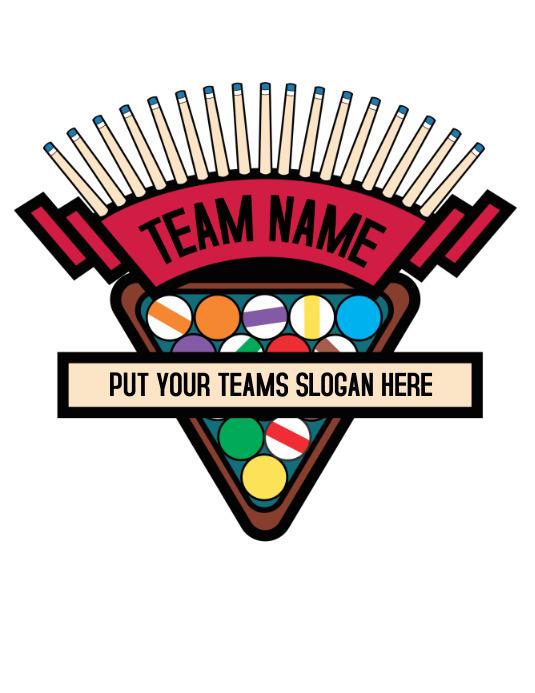 Billiards Pool Logo