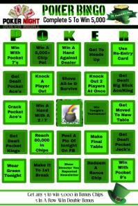 Bingo Poster template