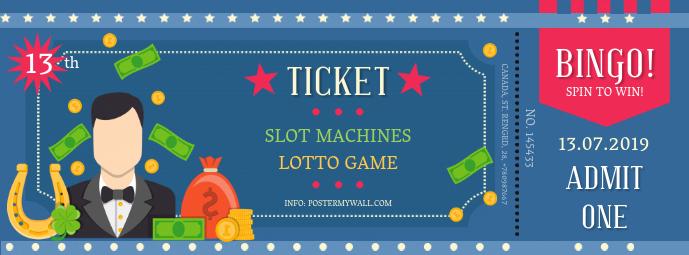 Bingo Event Contest Illustration Ticket