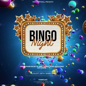 bingo Event video design template
