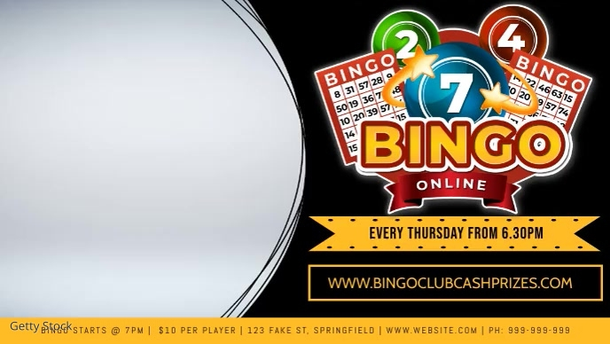 Bingo Facebook Video Event Cover Film w tle na Facebooka (16:9) template