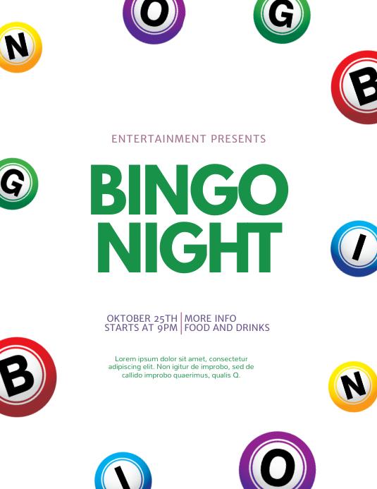 Folleto de Plantilla de Bingo | PosterMyWall