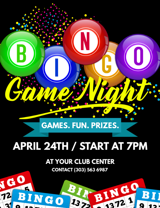 Bingo Game Night Flyer Template Postermywall