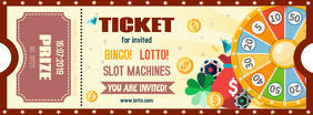 Bingo Lottery Contest Ticket Template