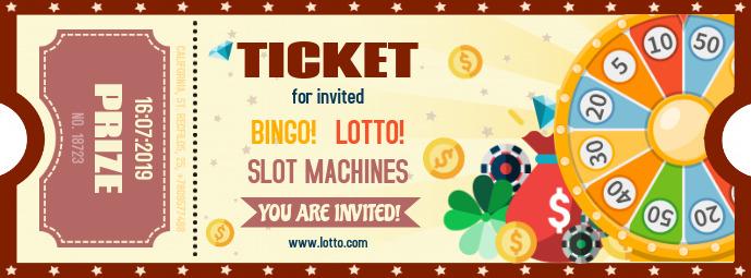 Bingo Lottery Contest Ticket Template