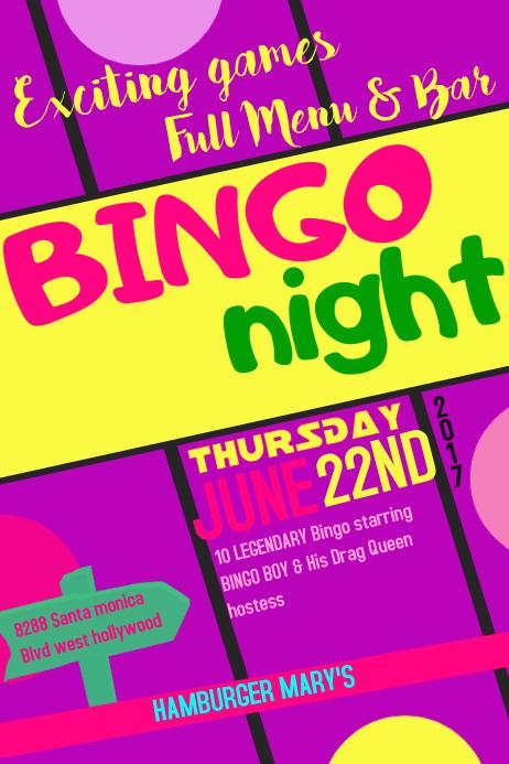 Bingo Night Bar Flyer Template