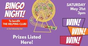 Bingo Night Benefit Event Facebook Post template