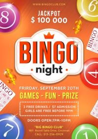Bingo Night Event Flyer A4 template