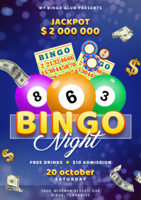 Bingo Night Event Flyer A4 template
