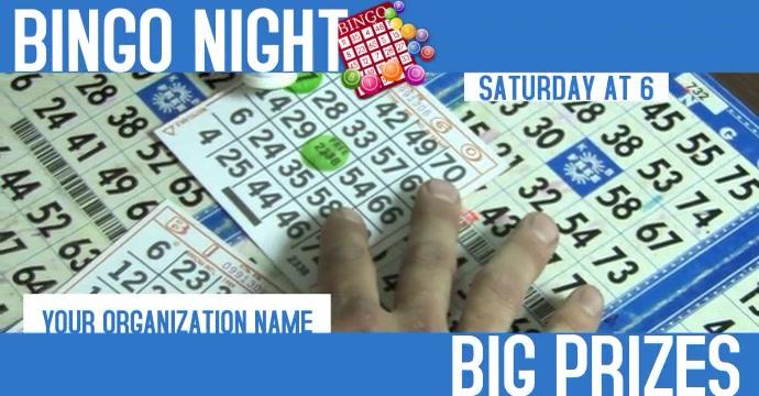 Bingo Night Facebook Post Ad Facebook-annonce template