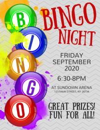 Bingo Night Flyer Pamflet (Letter AS) template