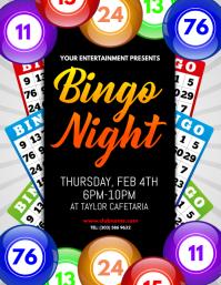 Customizable Design Templates For Bingo Night Template