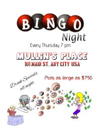 Customizable design templates for bingo event flyer postermywall bingo night flyer saigontimesfo