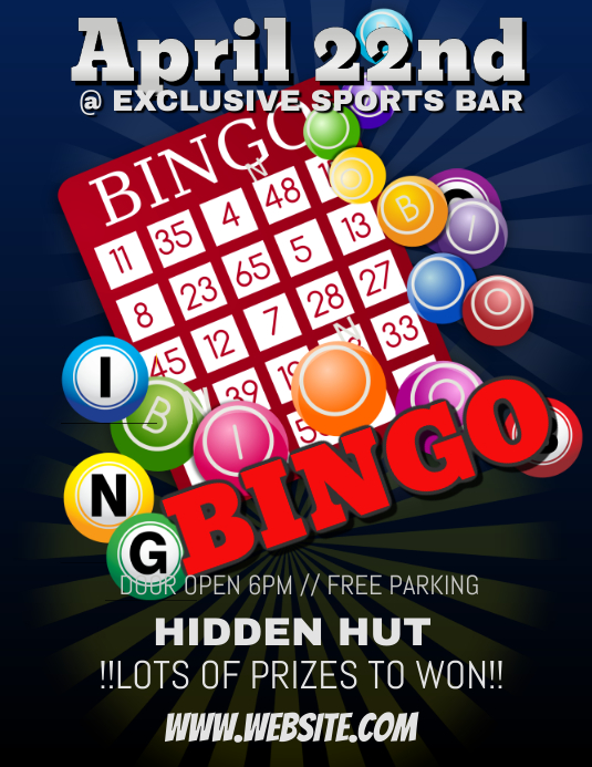 Bingo Night Template Postermywall