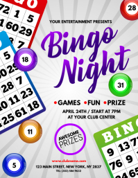 Customizable Design Templates For Bingo Night