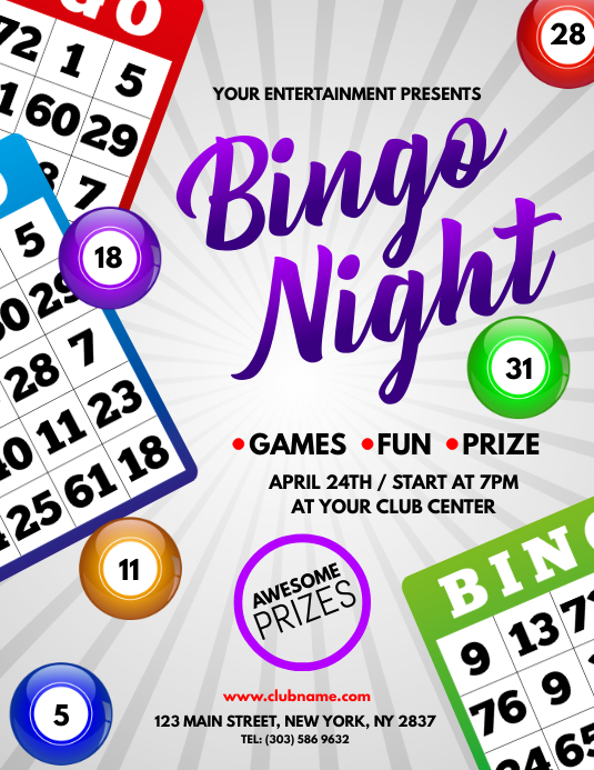 Bingo Night Flyer Pamflet (VSA Brief) template