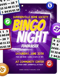 Bingo Night Fundraiser Flyer