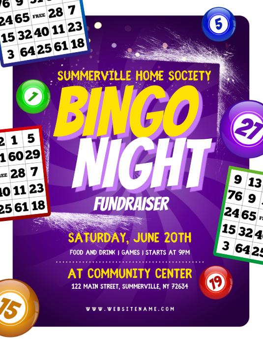 Bingo Night Fundraiser Flyer