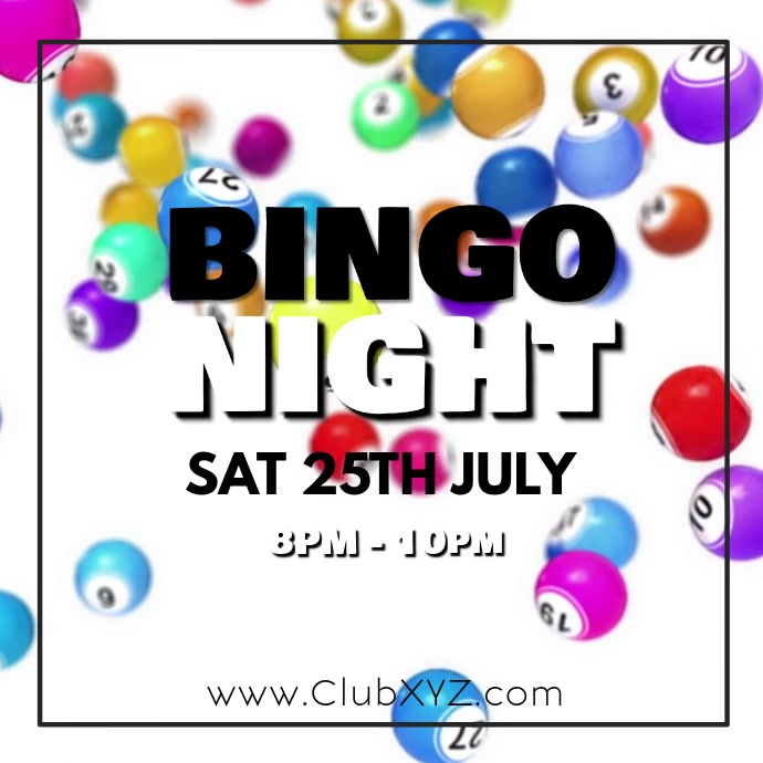 Bingo Night Games Evening Event Balls Number Isikwele (1:1) template