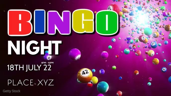 Bingo Night Games Fun Win Prices Play Video Facebook-covervideo (16:9) template