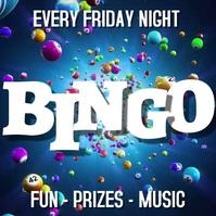Bingo Night Instagram Post Template Persegi (1:1)