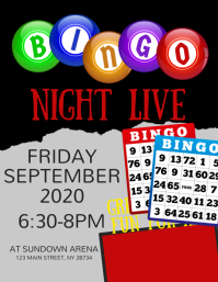 Bingo Night Live Flyer