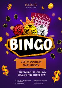 Bingo Night Money Poster A4 template