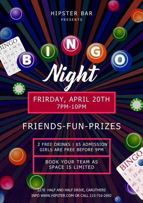 Bingo Night Poster A4 template