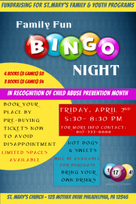 Customizable design templates for bingo night template postermywall bingo night poster saigontimesfo