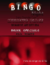 Bingo Night Video Flyer