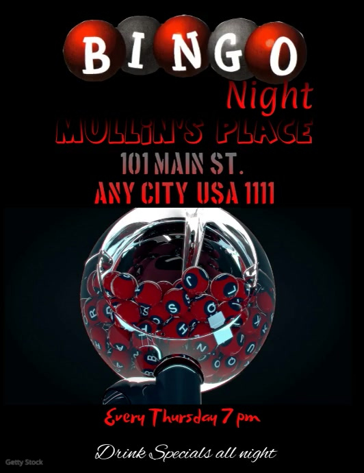 Bingo Night Video Flyer Template  Postermywall