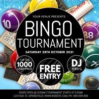 Bingo Tournament Poster template