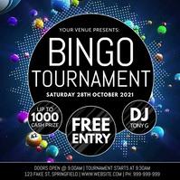 Bingo Tournament Video Poster template