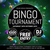 Bingo Tournament Video Poster Publicação no Instagram template