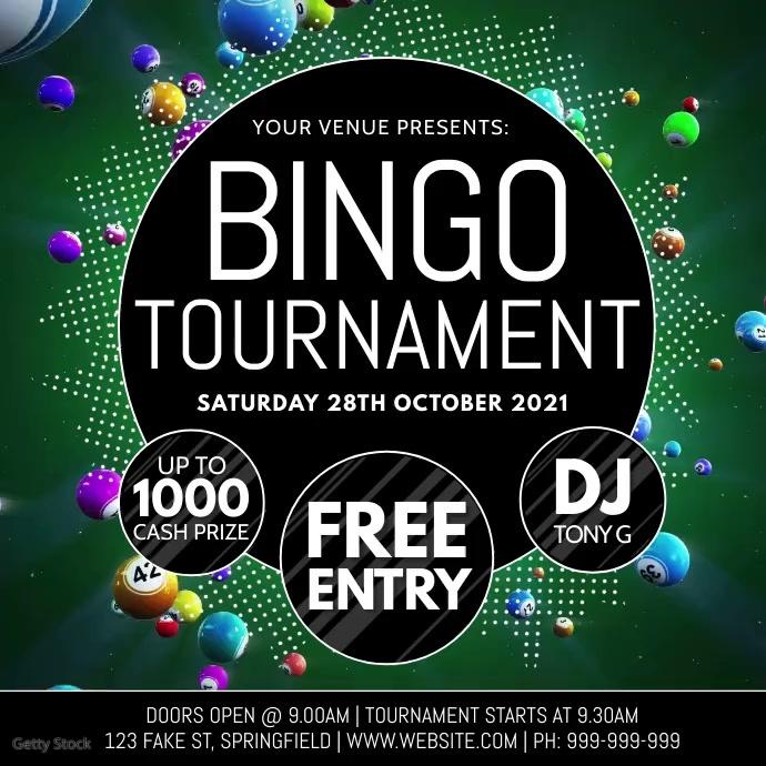 Bingo Tournament Video Poster Instagram-opslag template