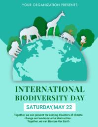 Biodiversity,environment, extinction Flyer (format US Letter) template